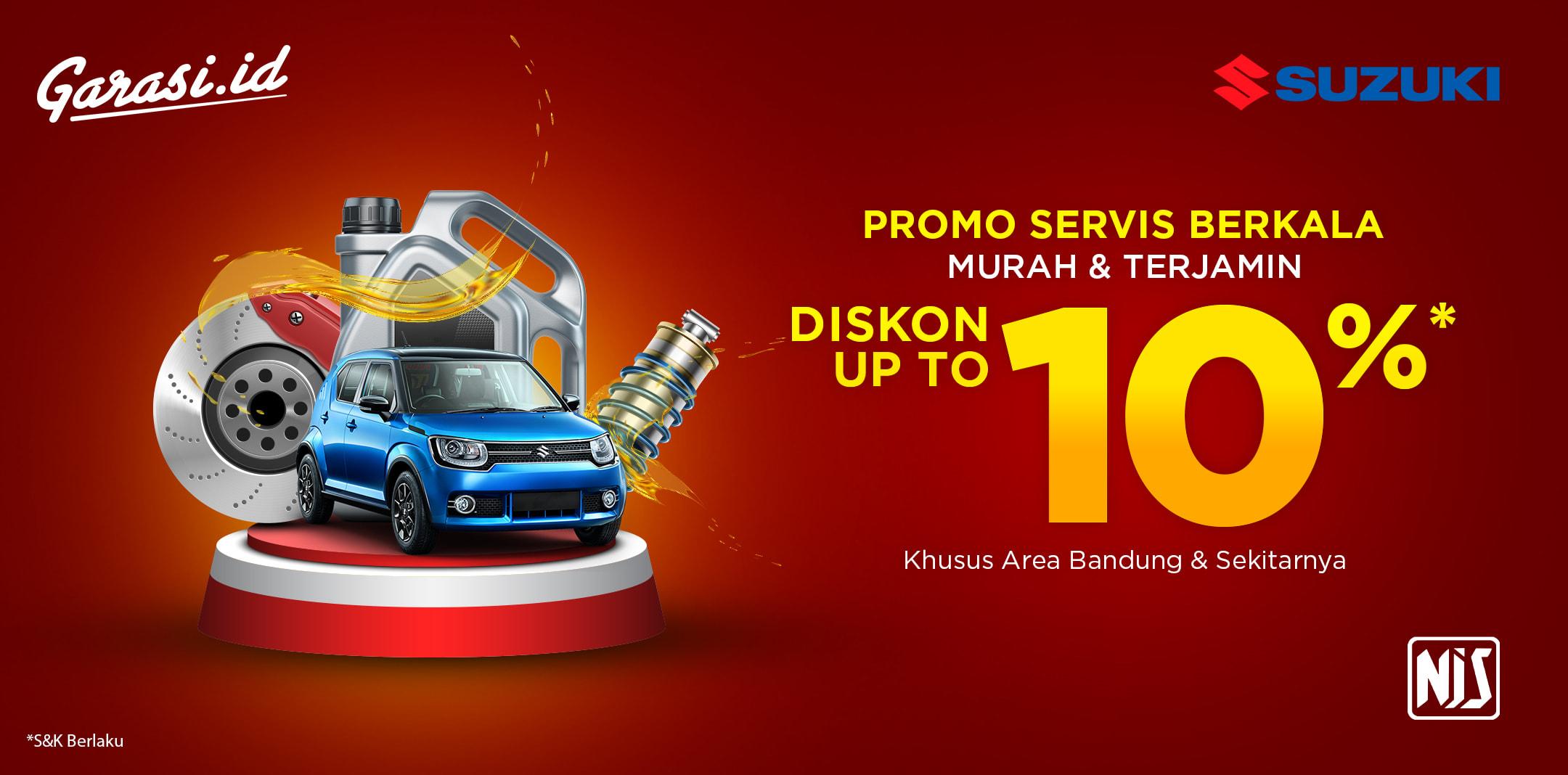 Spesial Promo 10% untuk Pelanggan Suzuki