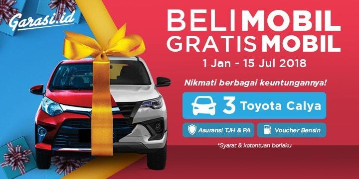 Beli mobil di Garasi.id dapat kupon undian berhadiah Grand Prize Toyota Calya.