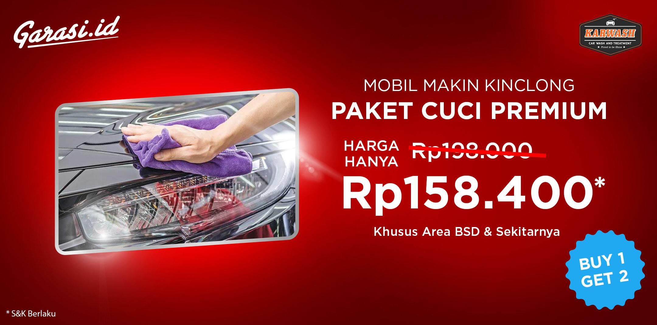 PROMO Paket Cuci Premium Diskon senilai Rp 39.000