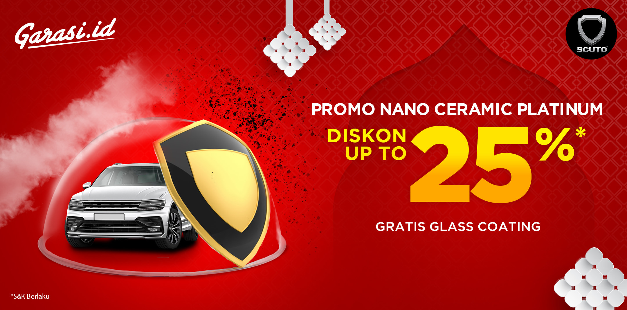 Promo Nano Ceramic Platinum Free Glass Coating Up to 25%