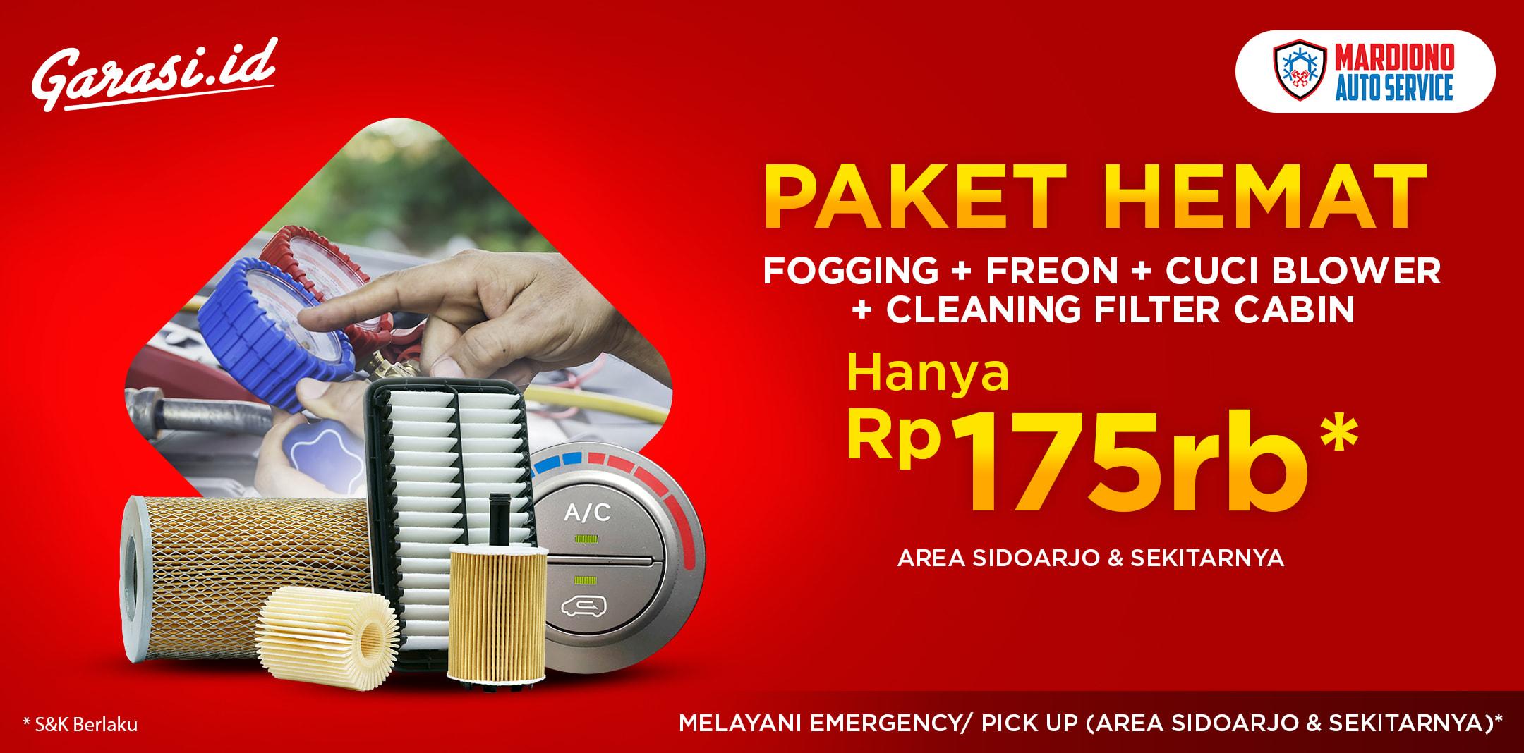 Fogging + Freon + Cuci Blower + Cleaning Filter Cabin Hanya Rp 175.000