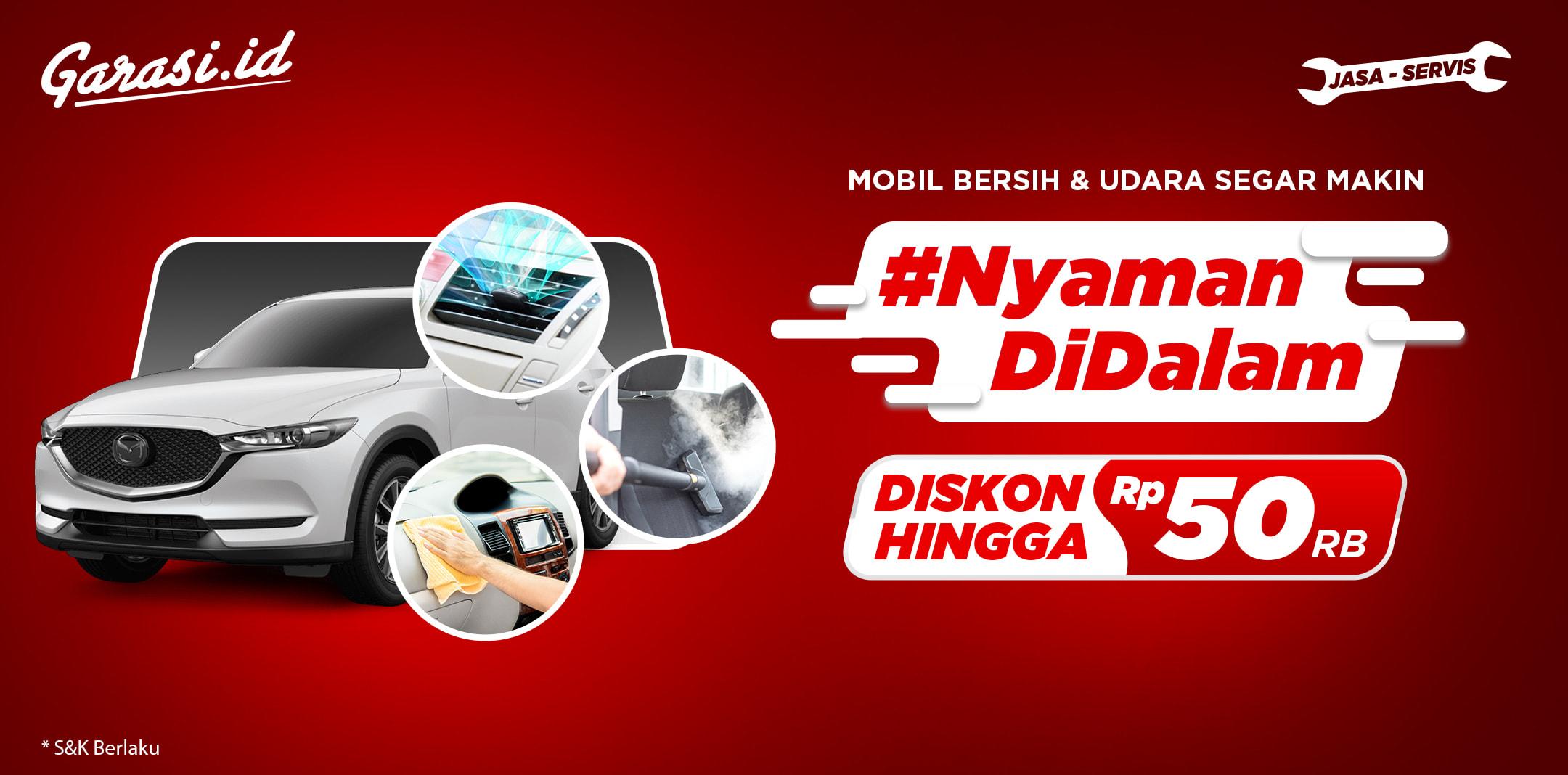 Lebih segar dan bebas stres saat berangkat ke kantor! Diskon sampai Rp 50 ribu untuk perawatan interior mobilmu!