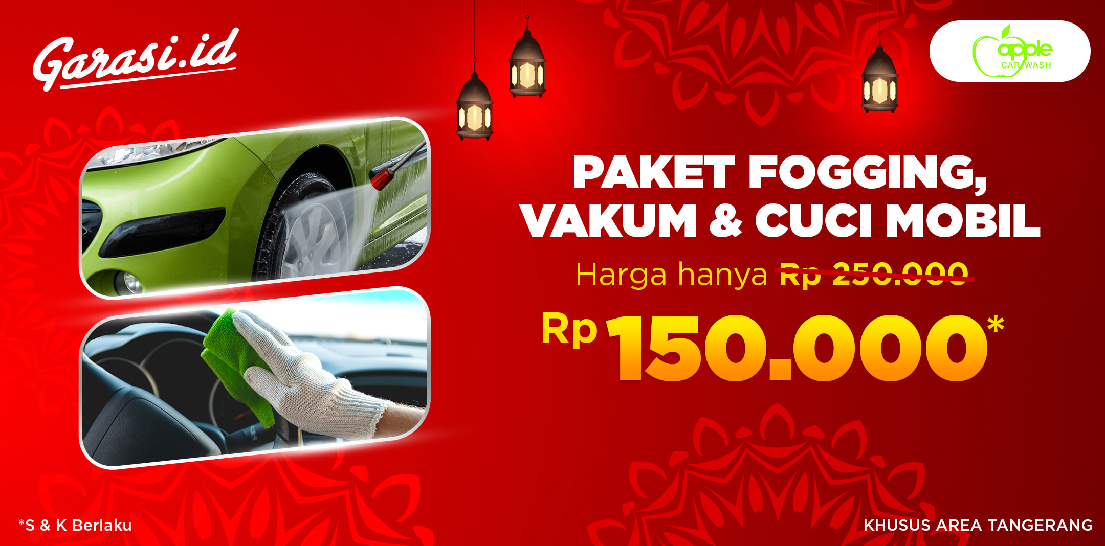 Promo Jasa Fogging + Vacum Interior + Car Wash