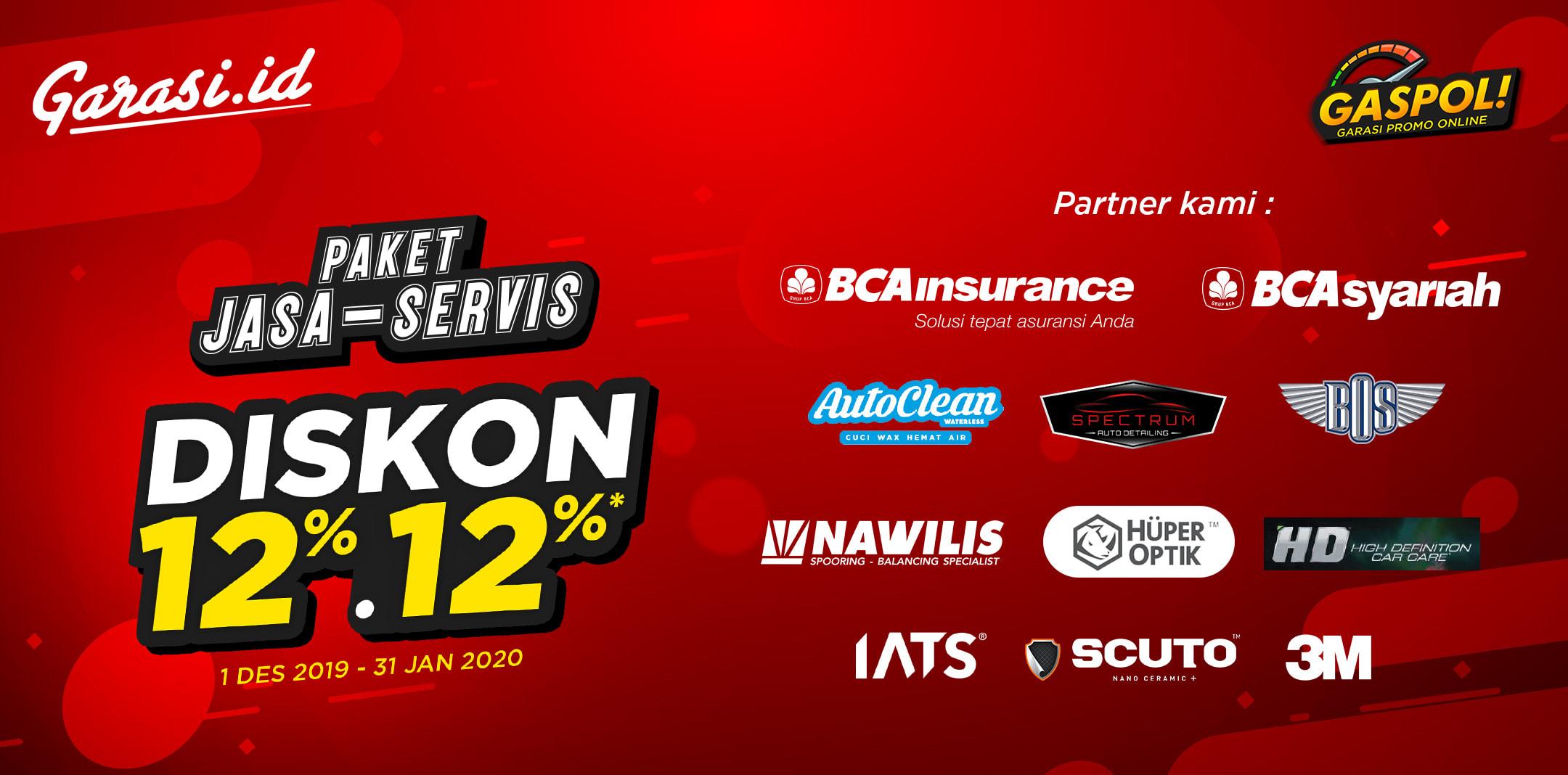 Nikmati diskon 12% untuk seluruh produk jasa dan servis