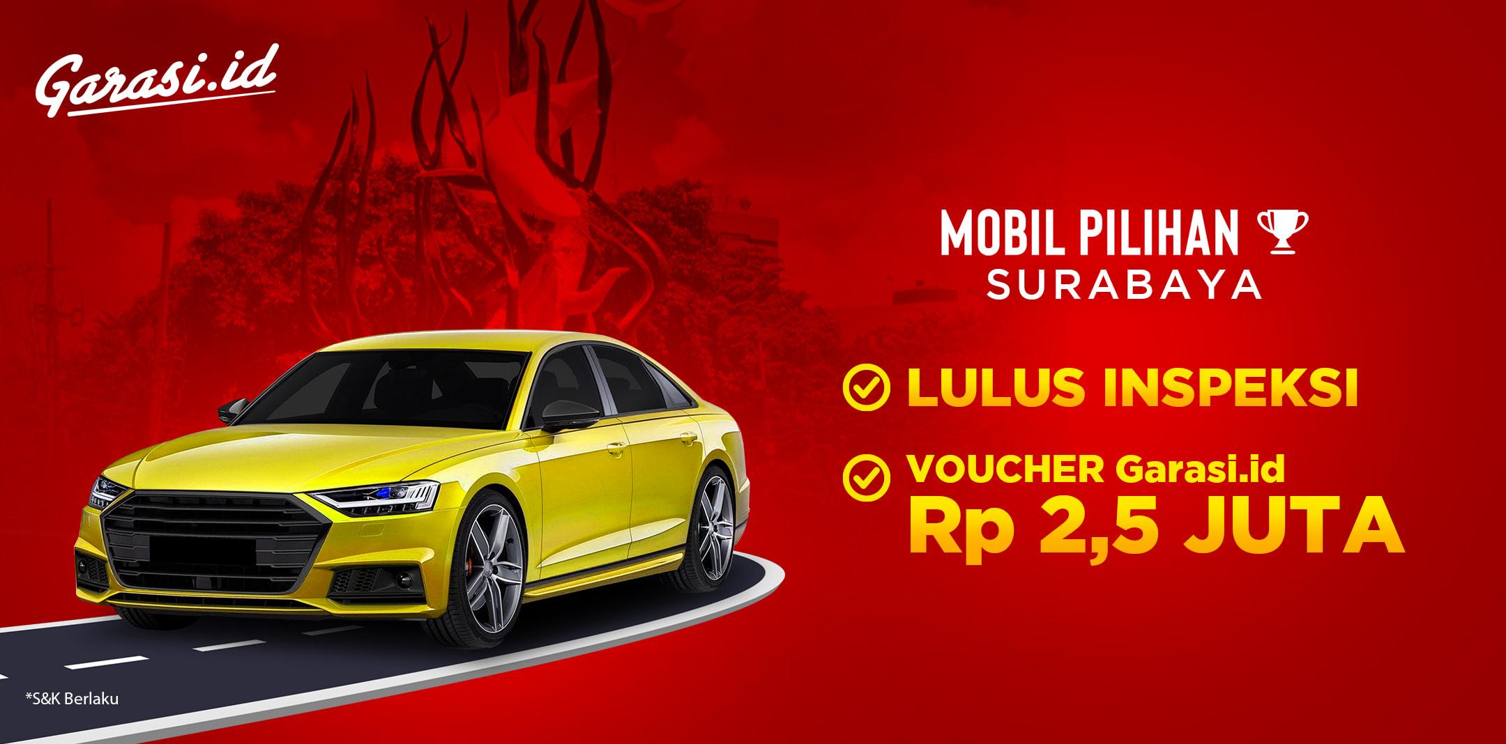 Gratis Voucher 2,5 Juta untuk pembelian Mobil Pilihan di area Surabaya