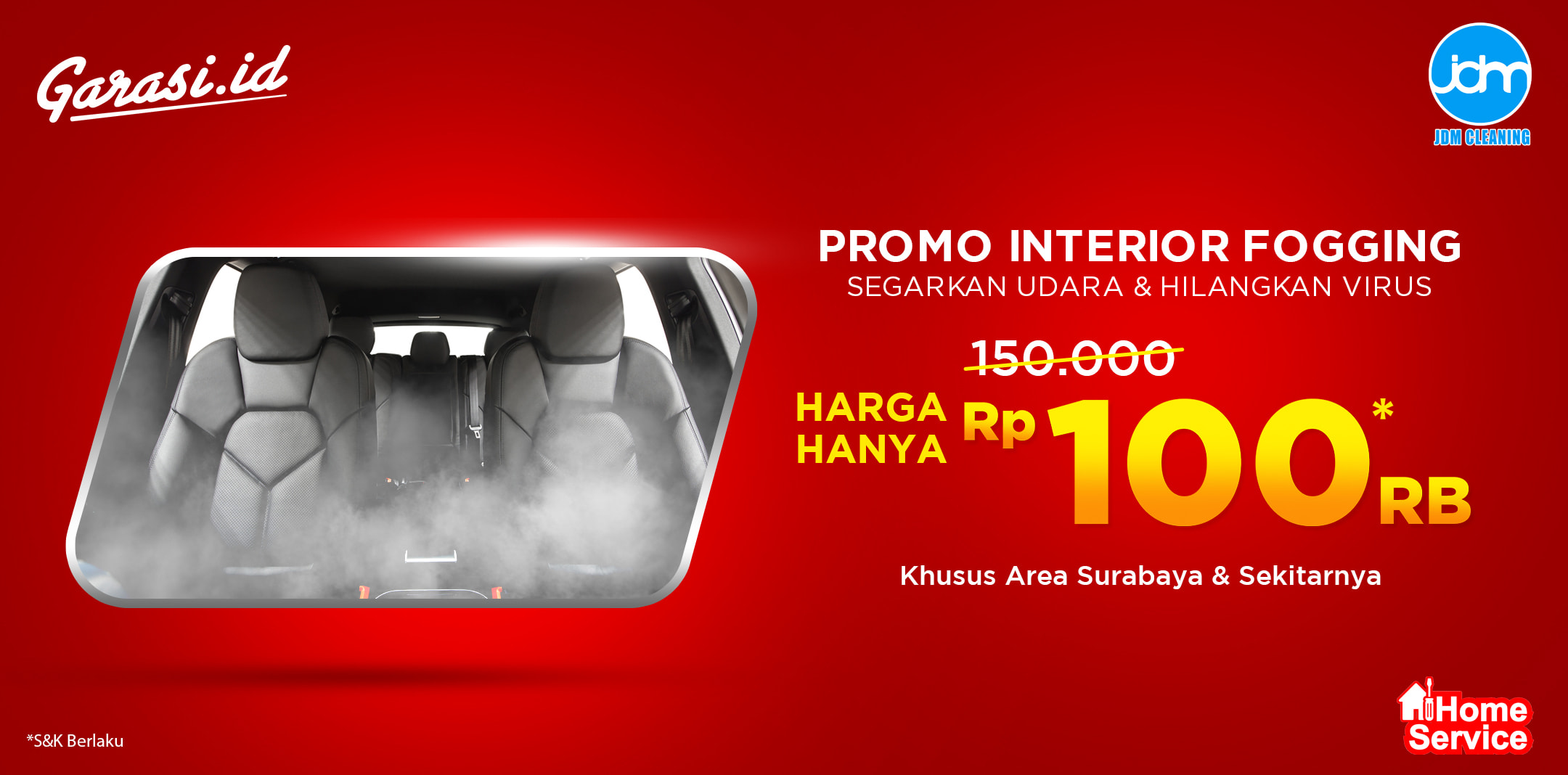 Promo Interior Fogging untuk Surabaya dan sekitarnya