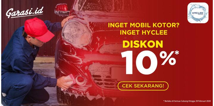 [Home Service] Cocok buat kalian yang sibuk, dapatkan promo 10% cuci mobil  di Hyclee