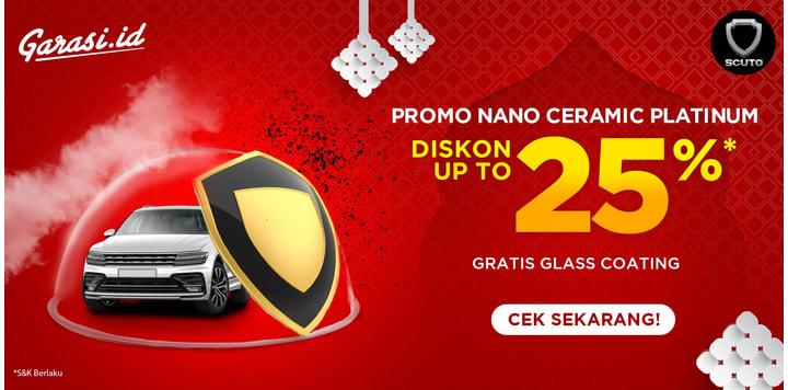 Promo Nano Ceramic Platinum Free Glass Coating Up to 25%