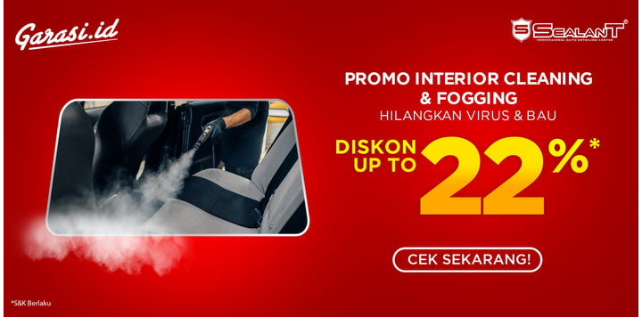 Promo Interior Cleaning + Fogging Disinfectant