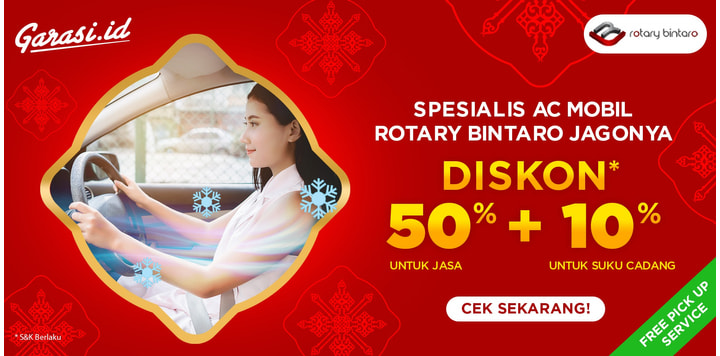 Semua service Rotary Diskon 50% jasa + 10% Sparepart