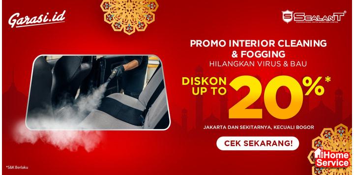 Promo Interior Cleaning + Fogging Disinfectant