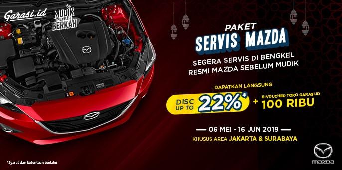 Servis Resmi Mobil Mazda Lewat Garasi.id Sebelum Pergi Mudik, Dapat Diskon 22%