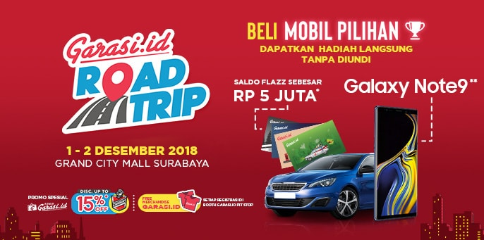 Garasi.id Road Trip 'Bagi-Bagi' Galaxy Note 9 di BlackAuto Battle 2018