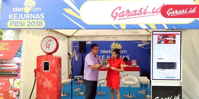 Garasi.id Ajak Pengunjung Kejurnas PBSI 2018 Seru-Seruan